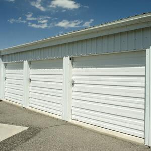 storage unit outside exterior metal